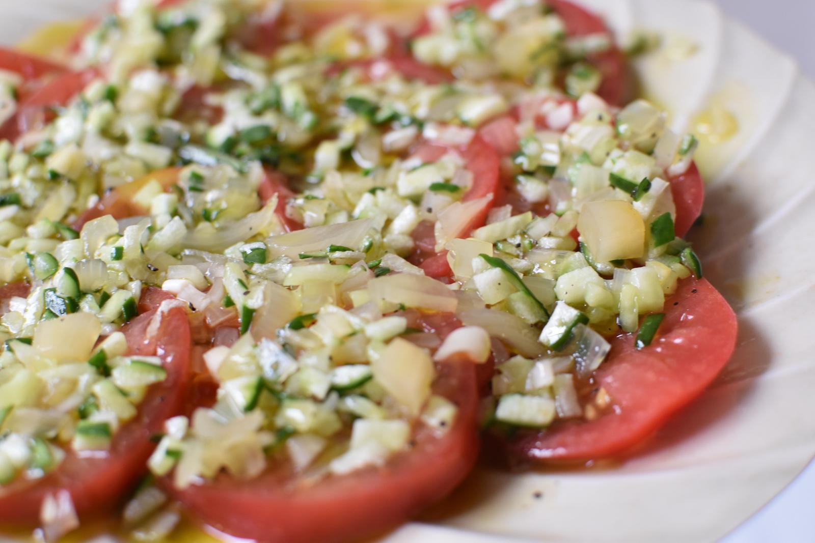 トマトとらっきょうのサラダ